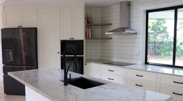 River White Granite Kitchen 3