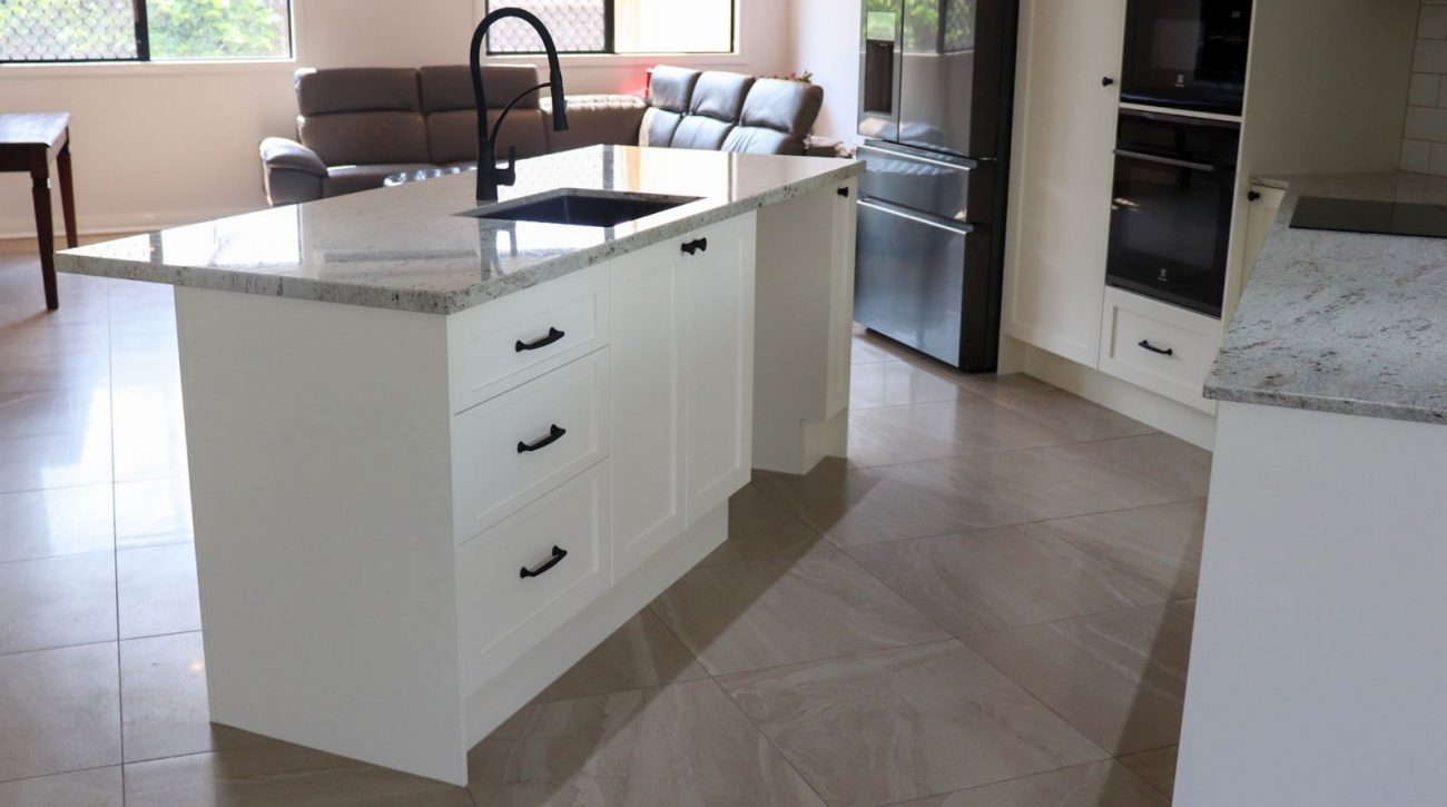 River White Granite Kitchen 8